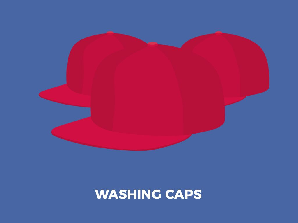 washing caps