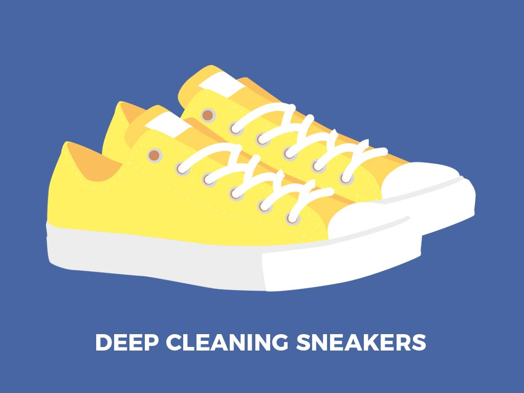 deep cleaning sneakers