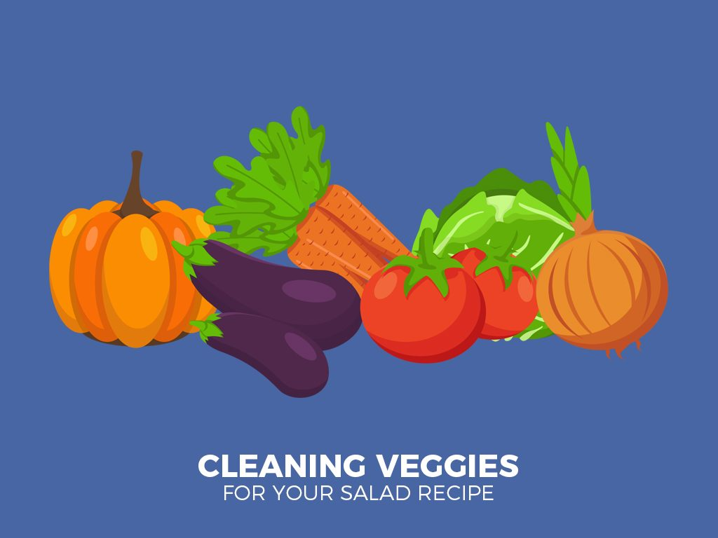 cleaning veggies
