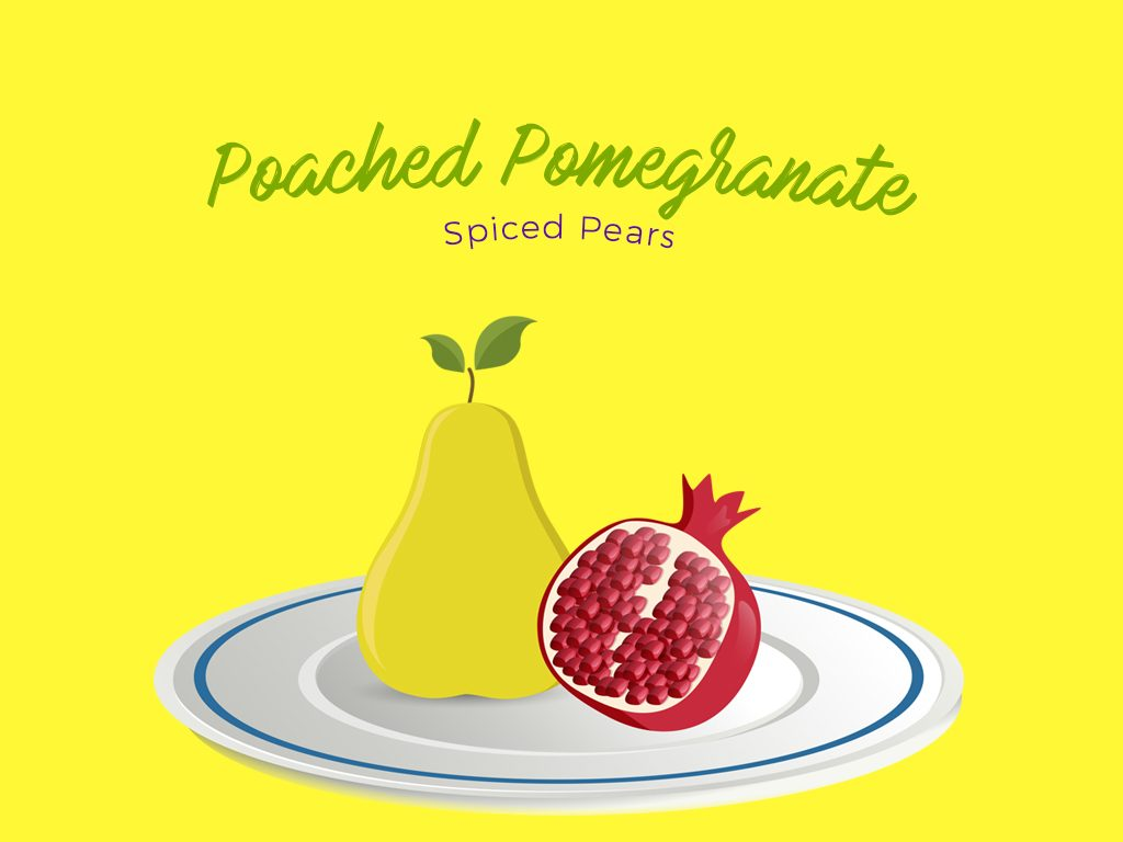 poached pomegranate