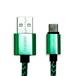 Fukuda FCS-120M 1.2m Sync and Charge Micro USB Cable for Android (Green)