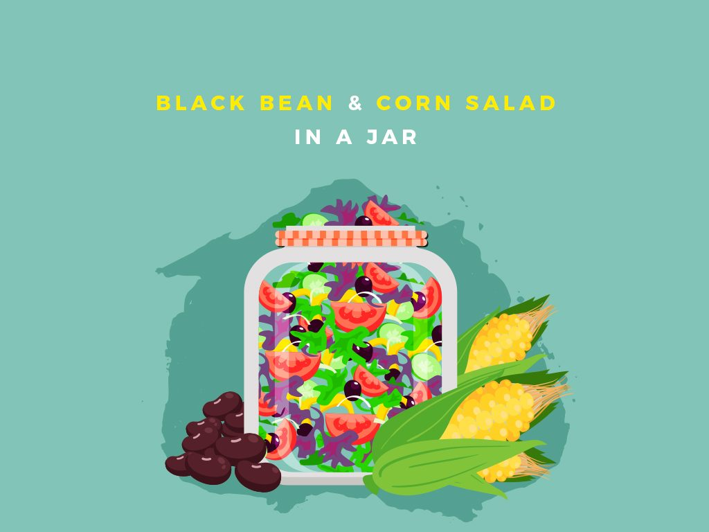 Black Bean and Corn Salad in a Jar