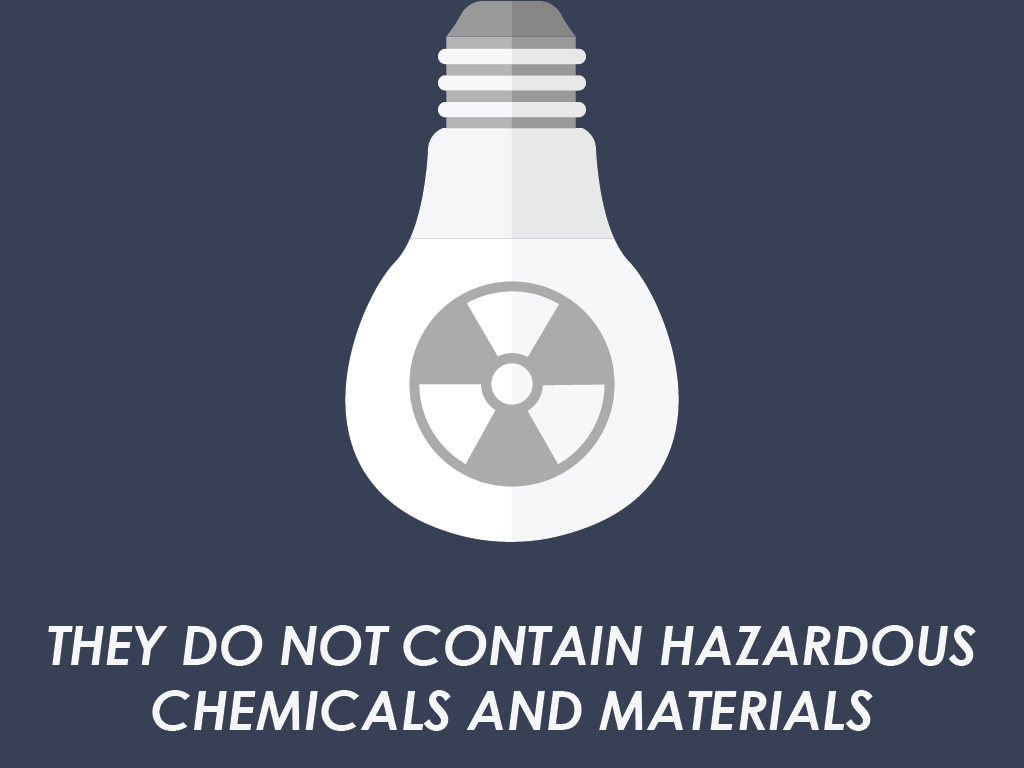 They do not contain hazardous chemicals and materials