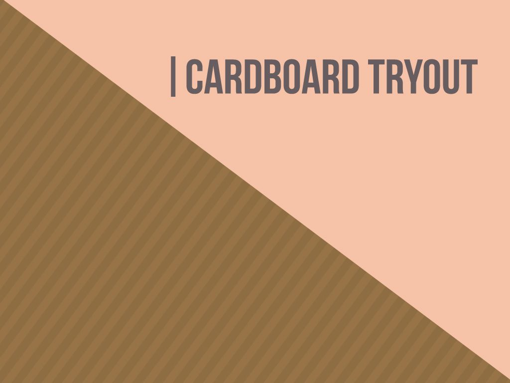 The Cardboard Tryout