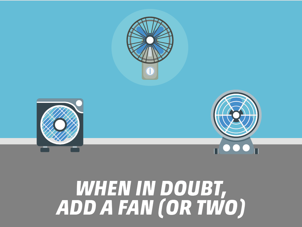 When in doubt, add a fan (or two)
