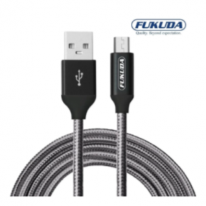 Fukuda FCS100GRY 1 meter Premium Charge and Sync Micro USB Cable (Gray)