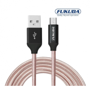 Fukuda FCS100RG 1 meter Premium Charge and Sync Micro USB Cable (Rose Gold)