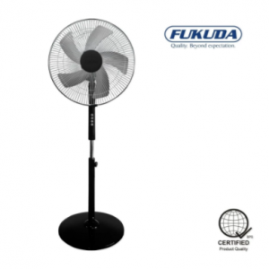 Fukuda SF167AS 16″ 5 Leaf Blade Stand Fan (Black)
