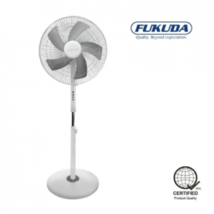 Fukuda SF167AS 16″ 5 Leaf Blade Stand Fan (White)