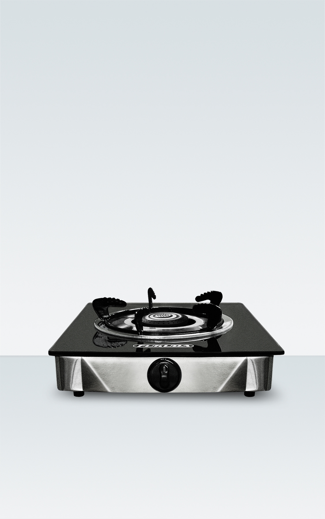 HEAT RESISTANT TEMPERED GLASS TOP SINGLE BURNER GAS STOVE