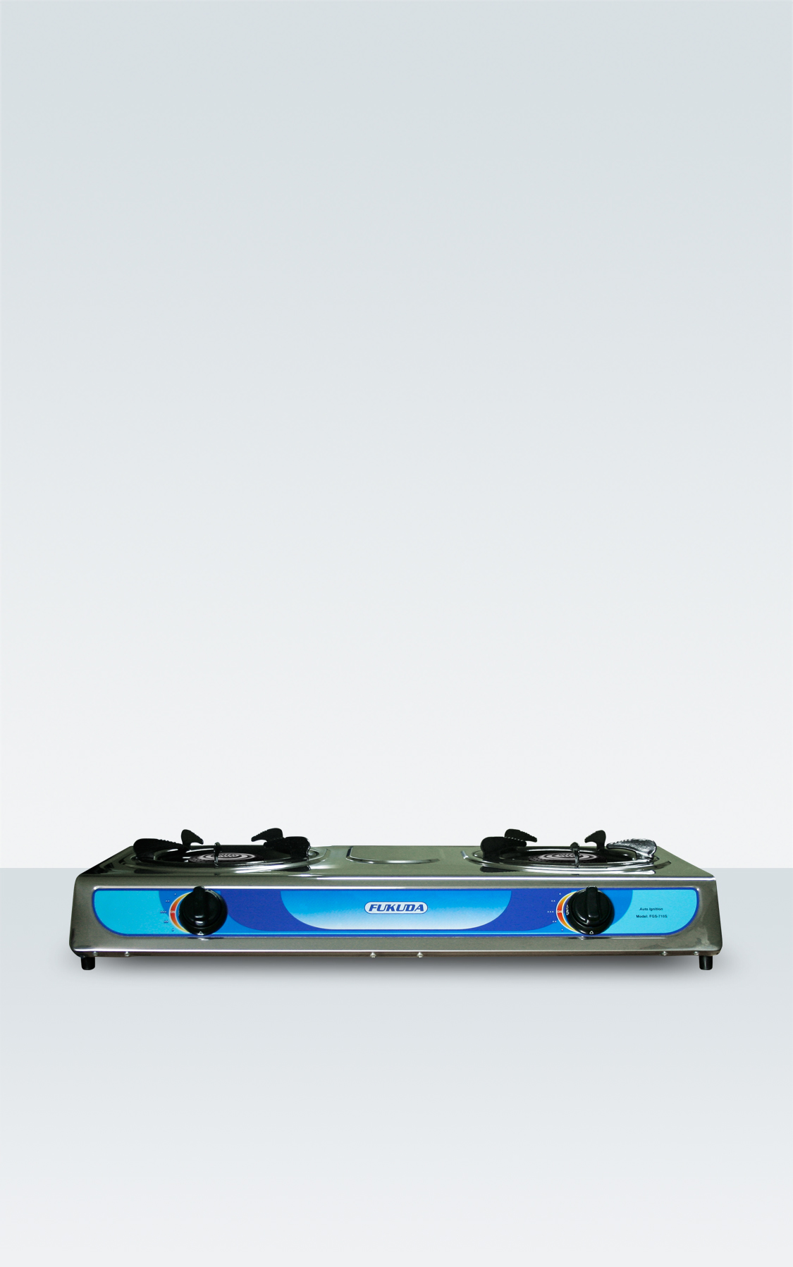 STAINLESS DOUBLE BURNER GAS STOVE