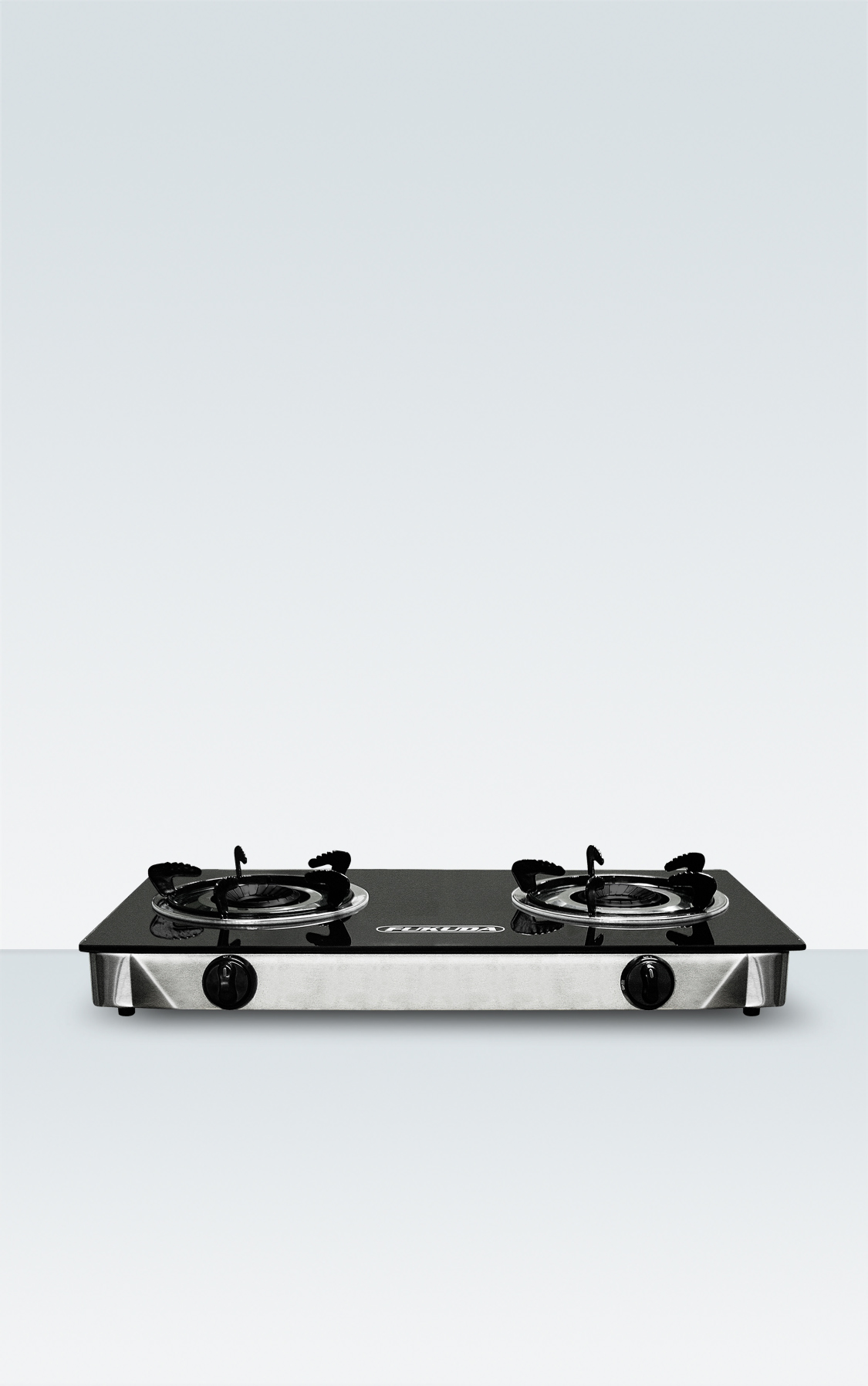 HEAT RESISTANT TEMPERED GLASS TOP DONULE BURNER GAS STOVE