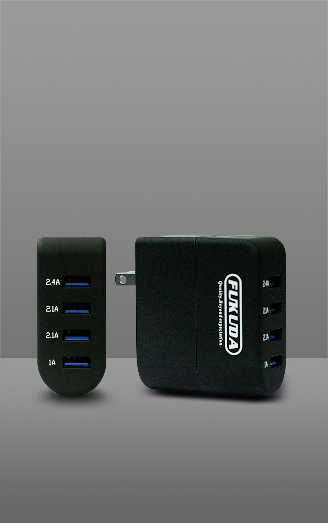 FOUR PORT TRAVEL CHARGER 40 WATTS