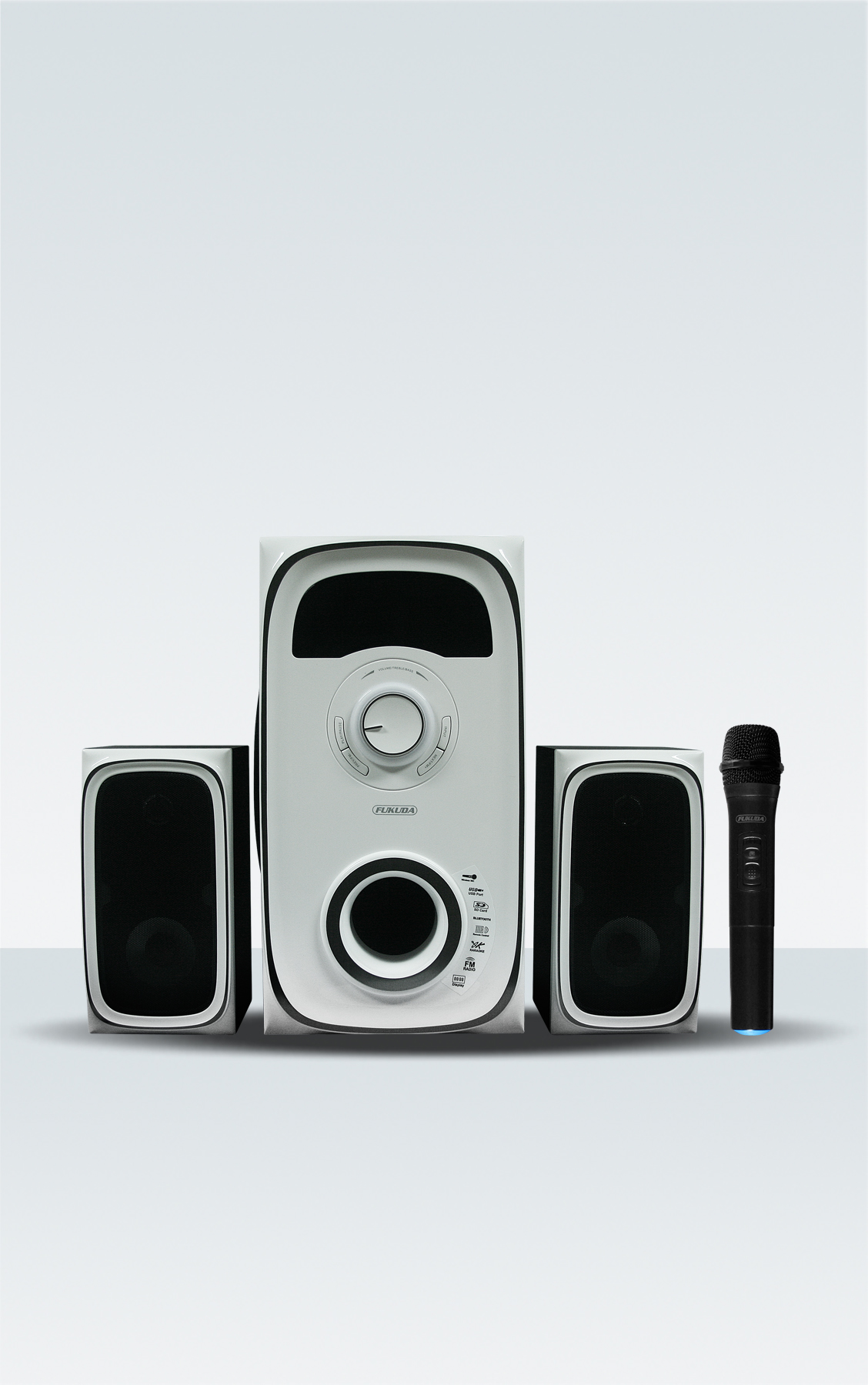 2.1 CH HOME THEATER SPEAKER WITH WIRELESS MICROPHONE 80W RMS