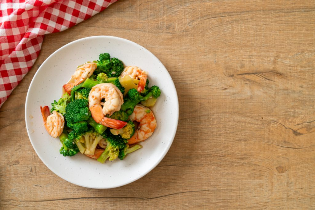 Stir Fried Broccoli With Shrimps Homemade Food Style (1)
